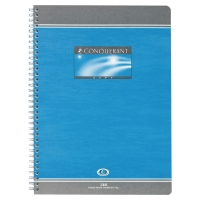 CAHIER SPIRALE INTEGRALE CONQUERANT A4 70G 180 PAGES QUADRILLE 5X5 NF