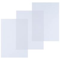 BOITE 100 COUVERTURES LYRECO BUDGET EN PVC A4 15/100ME TRANSPARENTES