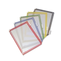 PAQUET 10 POCHES POUR SUPPORTS T-DISPLAY TARIFOLD A4 BORDS BLEUS
