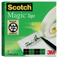 RUBAN ADHESIF SCOTCH MAGIC INVISIBLE 19 MM X 66 M