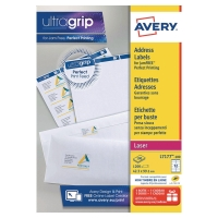 BOITE 1200 ETIQUETTES ADRESSES LASER BLANCHES AVERY 99,1X42,3MM L7177