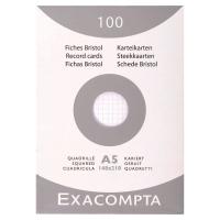 ETUI 100 FICHES BRISTOL NON PERFOREES EXACOMPTA 5X5 205G 148X210MM BLANC