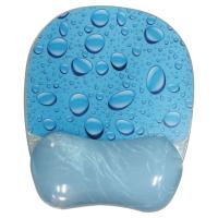 TAPIS SOURIS REPOSE-POIGNETS GEL A CONTOUR TRANSLUCIDE MODELE BLUE WATER