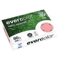 RAMETTE 500 FEUILLES EVERCOLOR FOREVER PAPIER RECYCLE 80G A4 ROSE
