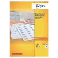 BOITE 2800 ETIQUETTES PHOTOCOPIEUR AVERY 105X42MM BLANCHES 23525-200