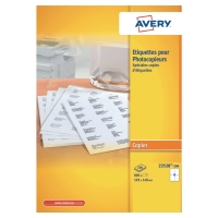 BOITE 800 ETIQUETTES PHOTOCOPIEUR AVERY 105X148MM BLANCHES 23528-200