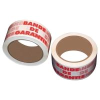 LOT DE 6 RUBANS IMPRIMES   BANDE DE GARANTIE   50 MM X 66 M
