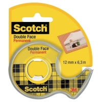 RUBAN ADHESIF DOUBLE FACE SCOTCH 12MMX6.3M SUR DEVIDOIR
