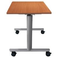 TABLE DE REUNION ABATTANTE BURONOMIC FINITION HETRE 70X140CM