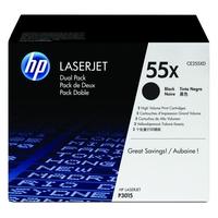 Pack de 2 cartouches laser HP ce255xd noires Haute capacité