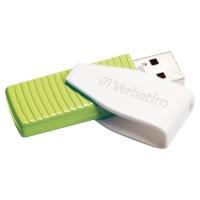 CLE USB VERBATIM STORE N GO SWIVEL CAPUCHON PIVOTANT USB 2.0 32 GO VERTE