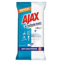 ETUI 60 LINGETTES AJAX SALLE DE BAIN ET WC FORMULE ANTICALCAIRE