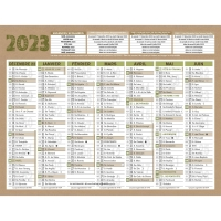 CALENDRIER RECYCLE NATURA 7MOIS MICRO 13,5 X 17,5
