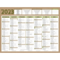 CALENDRIER RECYCLE NATURA 7MOIS 32X42