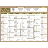 CALENDRIER RECYCLE NATURA 7MOIS 40,5X55