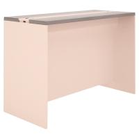 TABLE D ECHANGE HAUTE 105X160 IMITATION LIN/CEDRE