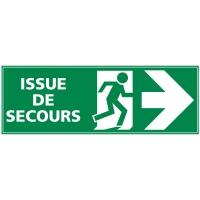 INDICATEUR D ISSUE DE SECOURS FLÈCHE A DROITE ADHÉS 350X125