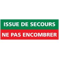 INDICATEUR D ISSUE DE SECOURS A NE PAS ENCOMBRER ADHÉSIF 210X75