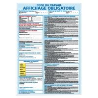 INDICATEUR D AFFICHAGE OBLIGATOIRE EN PVC A3