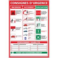 INDICATEUR DE CONSIGNES D URGENCE ADHÉSIF A3