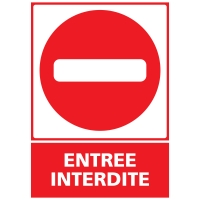 INDICATEUR D ENTRÉE INTERDITE EN PVC 300 X 420 MM