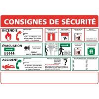 INDICATEUR DE CONSIGNES DE SÉCURITÉ EN PVC A3