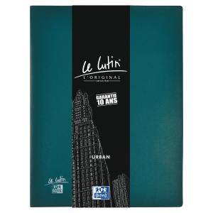 Protège-documents Elba Le Lutin Urban - PVC opaque - 20 pochettes - bleu pétrole