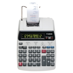 Calculatrice imprimante Canon MP120-MG-ES - 12 chiffres - argentée