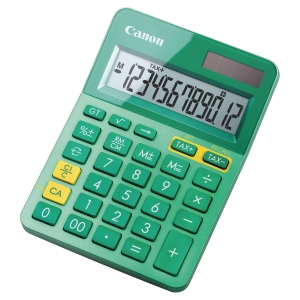 Calculator, Canon LS-123K, 12-digit display, turquoise