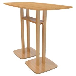 TABLE HAUTE LISBO L. 150 x P. 75 CM 6 PERSONNES - COLORIS HÊTRE