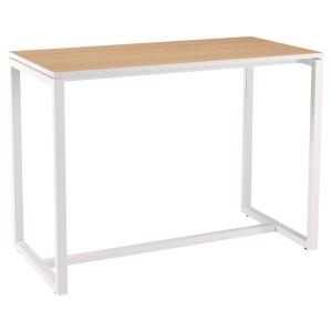 TABLE HAUTE EASYDESK L. 150 x P. 75 CM 6 PERSONNES - COLORIS HÊTRE