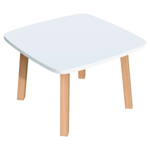 TABLE BASSE CARREE LISBO 60x60 CM - COLORIS BLANC