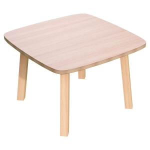 TABLE BASSE CARREE LISBO 60x60 CM - COLORIS HÊTRE