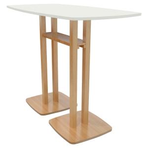 TABLE HAUTE LISBO L. 150 x P. 75 CM 6 PERSONNES - COLORIS BLANC