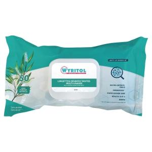 Etui de 50 lingettes wyritol desinfectantes parfumees a l essence de niaouli