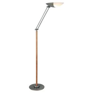 LAMPADAIRE LED ALUMINOR METEORE BOIS MERISIER+METAL GRIS