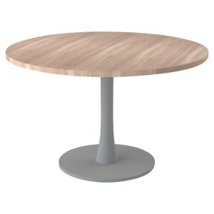 TABLE RONDE MELAMINE DIAMETRE 120 AVEC PIED COLONNE PLATEAU ORME PEGASUS