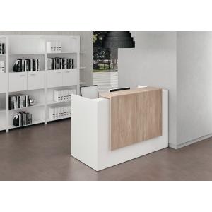 Banque d accueil compacte Quadrifoglio Manhattan - L 166 cm - blanc/orme