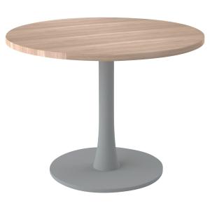 TABLE RONDE MELAMINE DIAMETRE 100 CM AVEC PIED COLONNE PLATEAU ORME PEGASUS