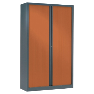 ARMOIRE DEMONTABLE A RIDEAUX 198*120 ANTHRACITE/MERISIER