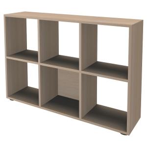 Bibliothèque casier Simmob - 6 cases - H 84 cm - hêtre