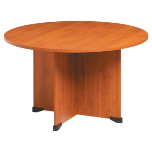 Table ronde Jazz+ pieds panneau finition aulne diamètre 120 cm