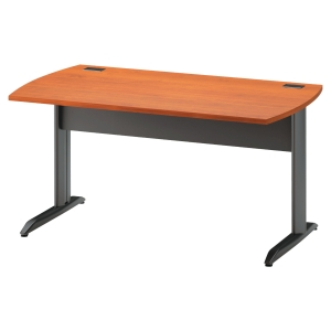 Table bureau Jazz+ finition aulne pieds métal