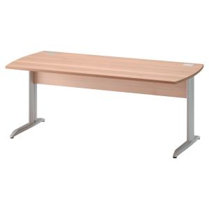 Table bureau Jazz finition hêtre pieds métal