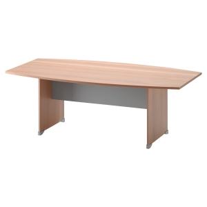 Table tonneau Gautier Office Jazz+ - pieds panneaux - L 204 cm - hêtre