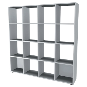 BIBLIOTHEQUE 16 CASES BLANC PERLE