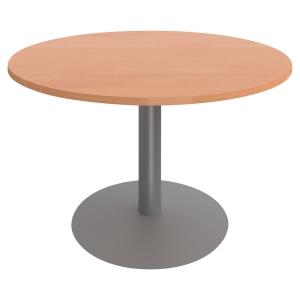 Table ronde Buronomic - pied tulipe - ⌀ 120 cm - hêtre