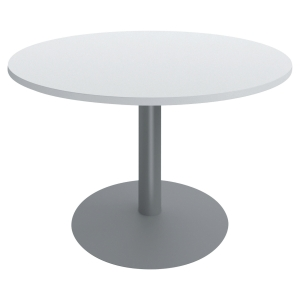 TABLE RONDE DIAMETRE 100 CM BLANCHE PIED TULIPE BURONOMIC