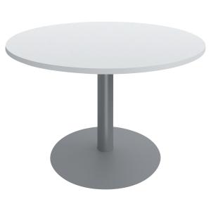 Table ronde Buronomic - pied tulipe - ⌀ 100 cm - blanche