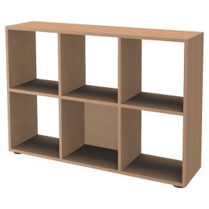 Bibliothèque casier Simmob - 6 cases - H 84 cm - chêne